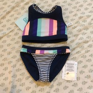 Athleta Girl two-piece bathing suit. Size XS/6.